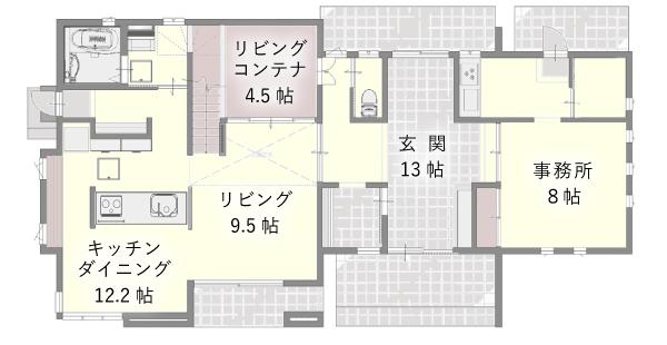 フィアスホーム彦根店 モデルハウス 間取り図 1階 高気密・高断熱の家 長浜市 彦根市 住宅 新築