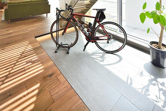 ベルデアの土間 蓄熱するタイル  長浜市 彦根市 住宅 新築