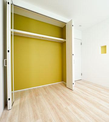 便利な収納 子ども部屋のクローゼット1 高気密・高断熱の家 長浜市 彦根市 住宅 新築