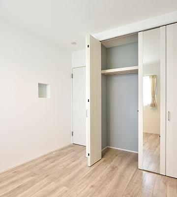 便利な収納 子ども部屋のクローゼット2 高気密・高断熱の家 長浜市 彦根市 住宅 新築