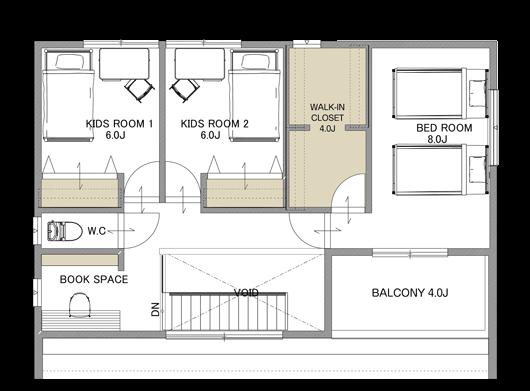 フィアスホーム彦根店 モデルハウス 間取り図 2階 高気密・高断熱の家 長浜市 彦根市 住宅 新築